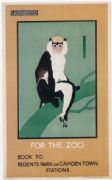 Vintage London Underground poster - Travel to the zoo